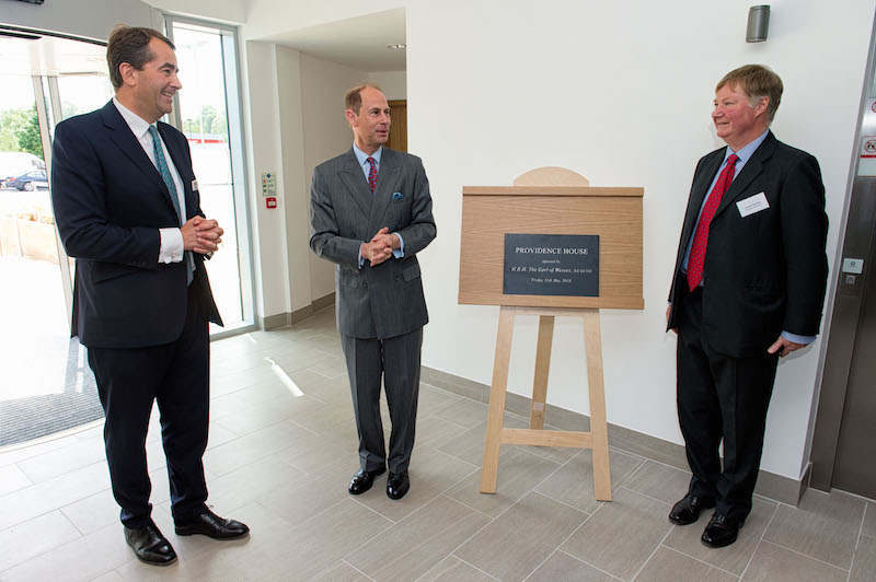 The Earl of Wessex officially opens Providence House, new HQ office building for Birketts
