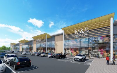 Planning application submitted for new larger M&S Food Hall at Stane Retail Park