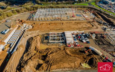 Construction continues at Stane Retail Park, Colchester